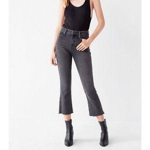 H&M kick black stretch high waist cropped fringe